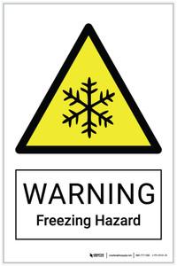 Warning: Freezing Hazard - Label