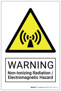 Warning: Non-Ionizing Radiation / Electromagnetic Hazard - Label