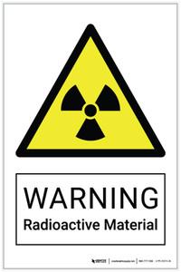 Warning: Radioactive Material Hazard - Label