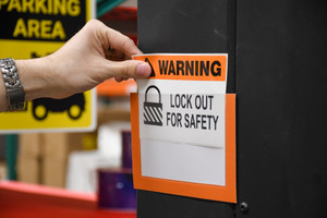 Lockout/Tagout Label Holders - Pack of 10