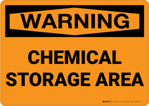 Hazard: Chemical Storage Area - Wall Sign