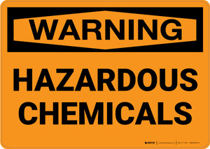 Hazard: Hazardous Chemicals - Wall Sign