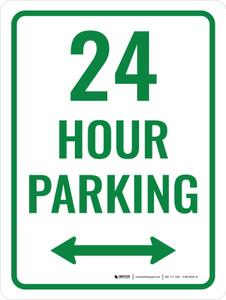 24 Hour Parking Portrait - Wall Sign