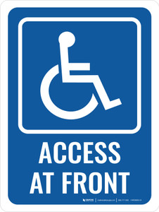 Access At Front Portrait - Wall Sign