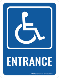 Accessible Entrance Portrait - Wall Sign