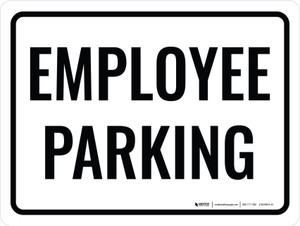 Employee Parking Black Landscape - Wall Sign