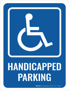 Handicapped Parking Portrait - Wall Sign