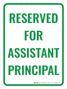 Reserved Assistant Principal Portrait - Wall Sign