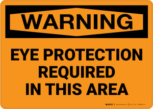 Warning: PPE Eye Protection Required - Wall Sign
