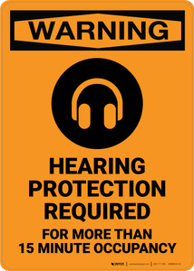 Warning: Hearing Protection Required - Wall Sign