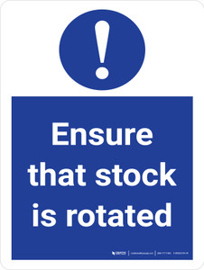 Ensure That Stock Is Rotated Stock Management Portrait - Wall Sign
