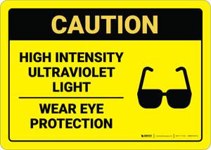Warning: Ultraviolet Eye Protection  - Wall Sign