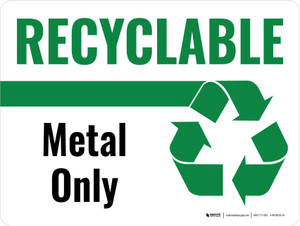 Recyclable Metal Only Green with Icon Landscape - Wall Sign