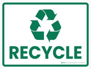 Recycle Green with Icon Landscape - Wall Sign