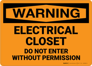 Warning: Electrical Closet Keep Out High Voltage - Wall Sign