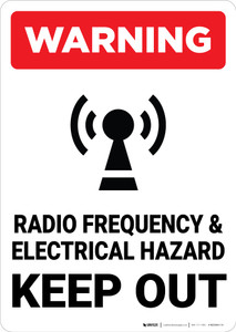 Warning: Radio Frequency and Electrical Hazard - Wall Sign