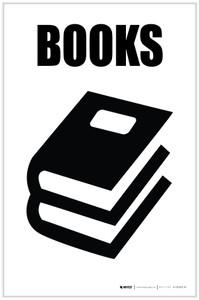 Books with Icon Portrait - Label