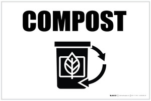 Compost with Icon Landscape - Label