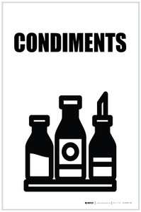 Condiments with Icon Portrait - Label