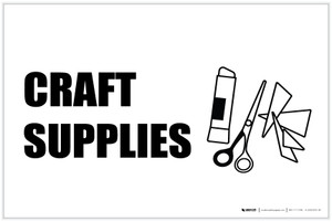 Craft Supplies with Icon Landscape - Label