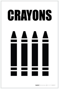 Crayons with Icon Portrait - Label
