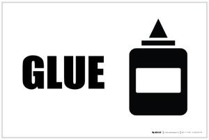 Glue with Icon Landscape - Label
