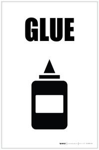 Glue with Icon Portrait - Label