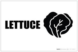 Lettuce with Icon Landscape - Label