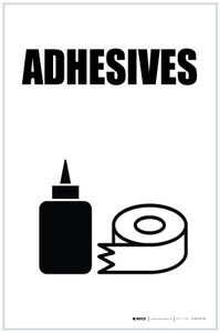 Adhesives with Icon Portrait - Label