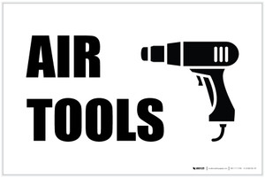 Air Tools with Icon Landscape - Label