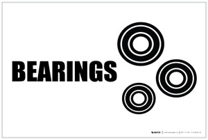 Bearings with Icon Landscape - Label