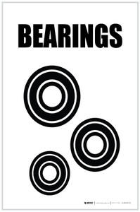 Bearings with Icon Portrait - Label