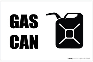 Gas Can with Icon Landscape - Label