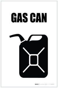 Gas Can with Icon Portrait - Label