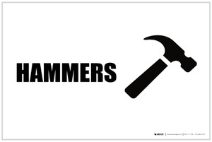 Hammers with Icon Landscape - Label