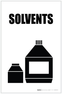 Solvents with Icon Portrait - Label