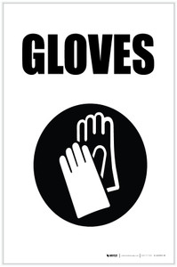 Gloves with Icon Portrait - Label