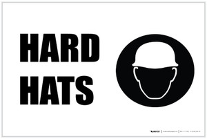 Hard Hats with Icon Landscape - Label