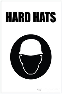Hard Hats with Icon Portrait - Label