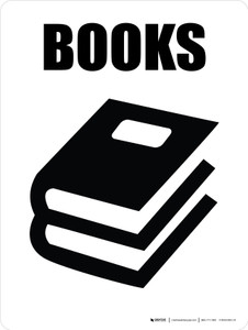 Books with Icon Portrait - Wall Sign