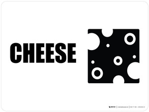 Cheese with Icon Landscape - Wall Sign