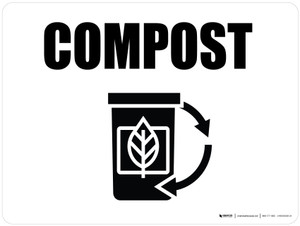 Compost with Icon Landscape - Wall Sign