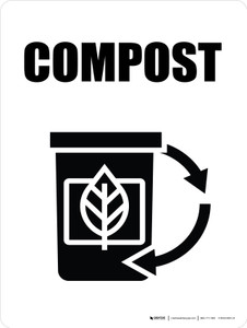 Compost with Icon Portrait - Wall Sign