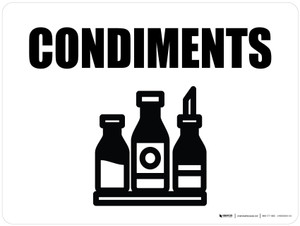 Condiments with Icon Landscape - Wall Sign