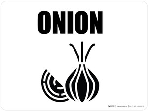 Onions with Icon Landscape - Wall Sign