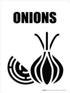 Onions with Icon Portrait - Wall Sign