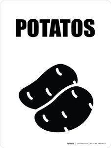 Potatos with Icon Portrait - Wall Sign