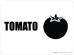 Tomato with Icon Landscape - Wall Sign