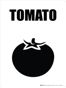 Tomato with Icon Portrait - Wall Sign