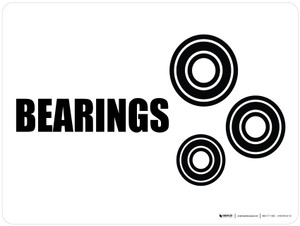 Bearings with Icon Landscape - Wall Sign